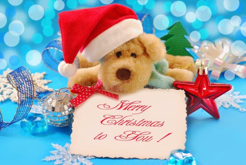 Cumprimentos doces do Natal foto de stock