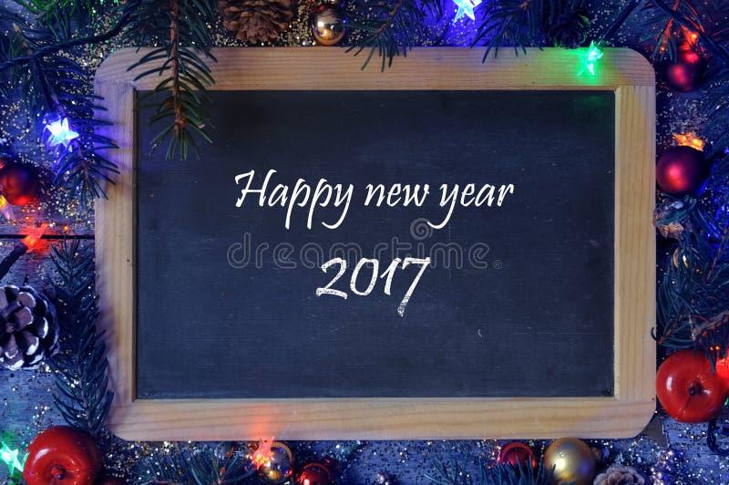 Cumprimentos pelo ano novo 2017 fotografia de stock