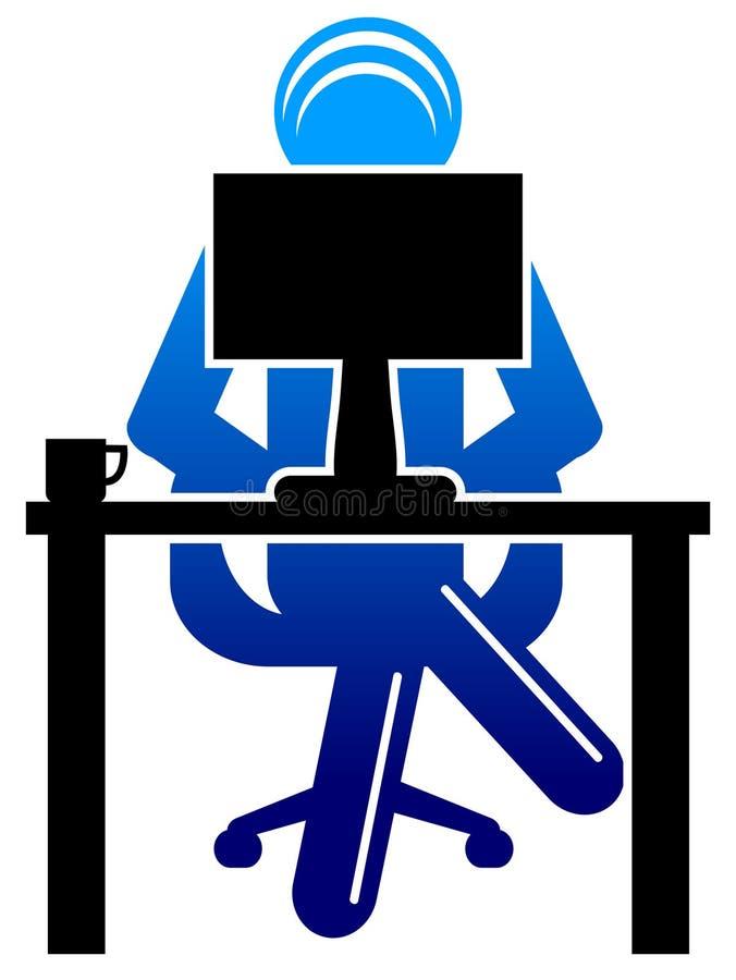 cumputer wizerunku używać ilustracja wektor