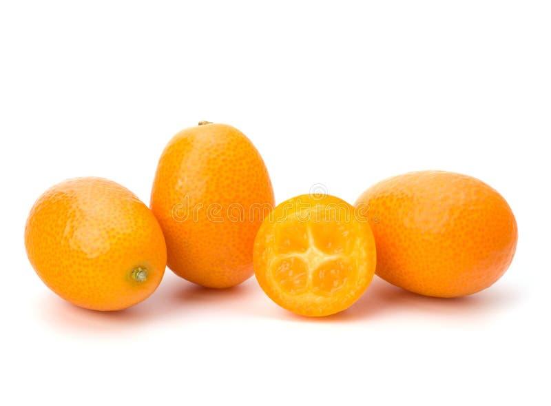 Cumquat or kumquat. Isolated on white background close up stock photography