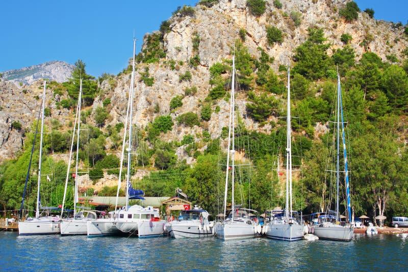 cumujący jachty zdjęcie royalty free