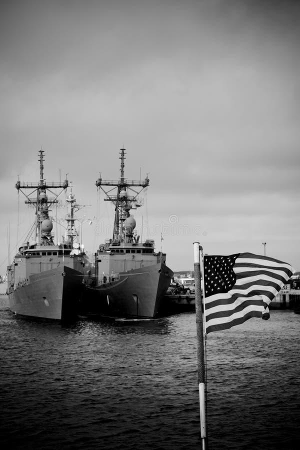 cumujący okręt wojenny zdjęcia stock