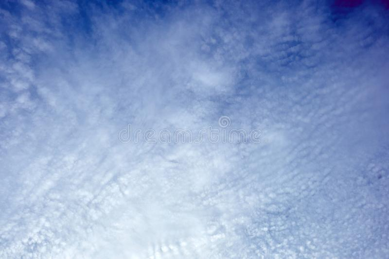 Cumulocirrus clouds in the blue sky of Jechun, South Korea royalty free stock images