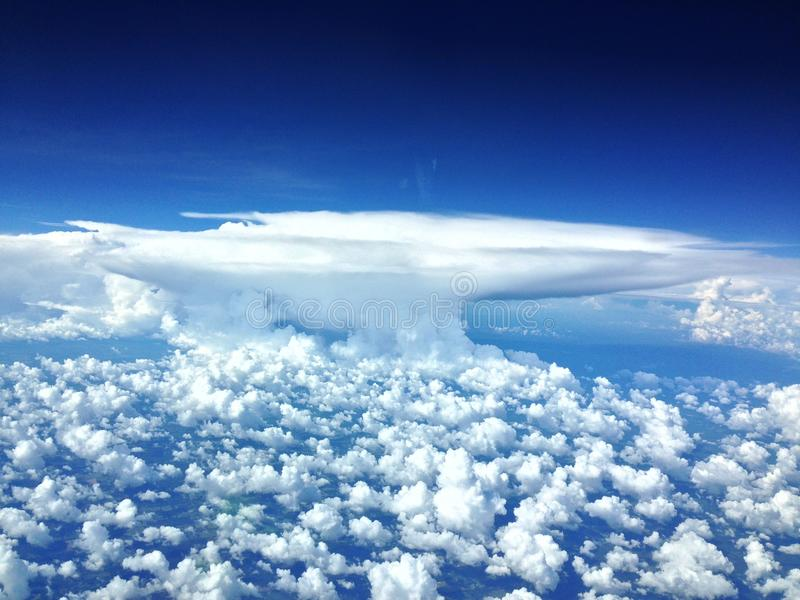 Cumulonimbus burzy chmury zdjęcia stock
