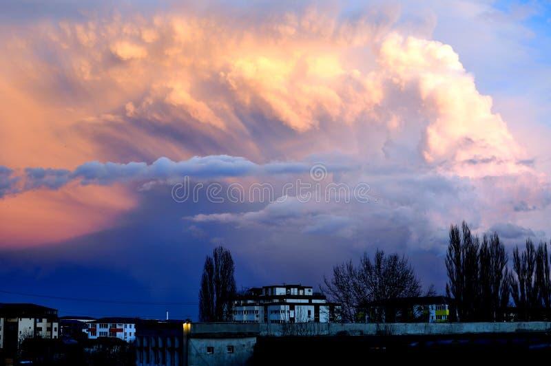 Cumulonimbus chmura obrazy royalty free