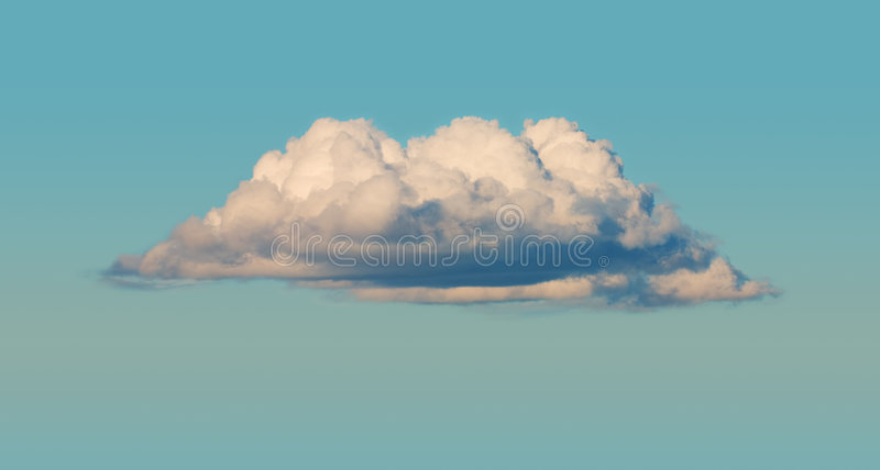 Cumulus cloud. The big cumulus cloud in the blue sky royalty free stock photos