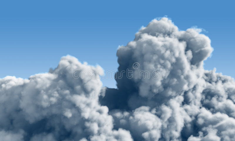 Cumulus clouds stock illustration
