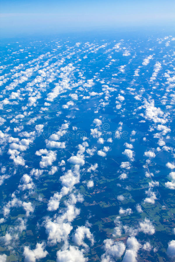 Cumulus Clouds From Above stock image