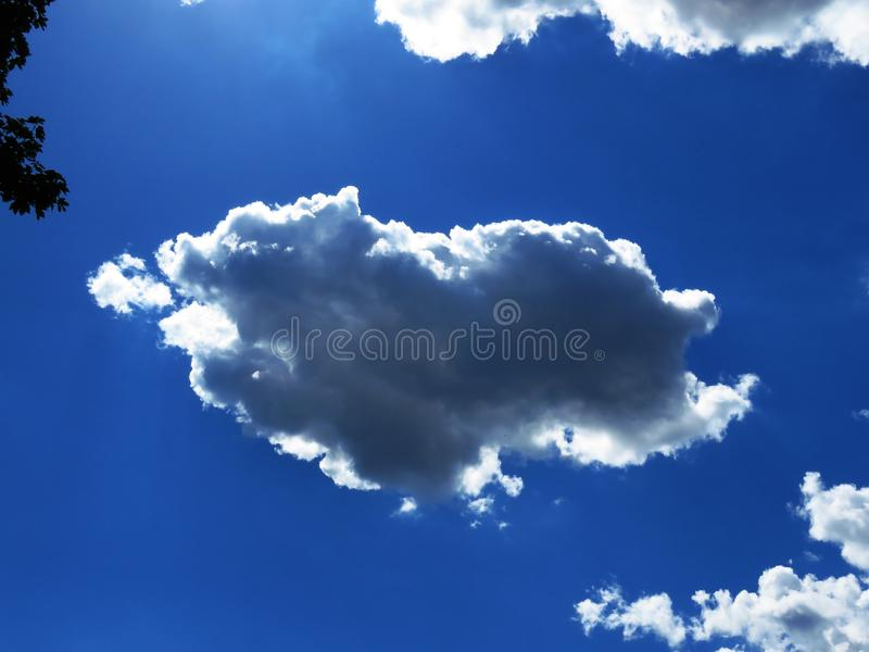 Cumulus clouds with natural patterns on sunny day in summer.Grey rainy clouds. Weather forecast concept. Cumulus clouds with natural patterns on sunny day in stock images