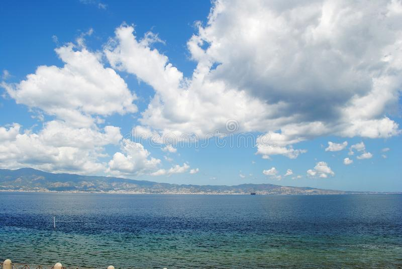 Seascape. View of Sicily, Italy royalty free stock photo