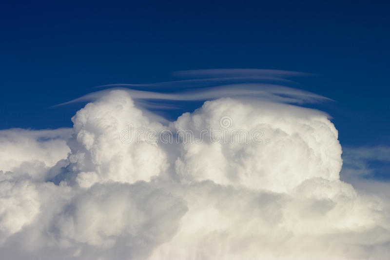 Cumulus pileus royalty free stock images