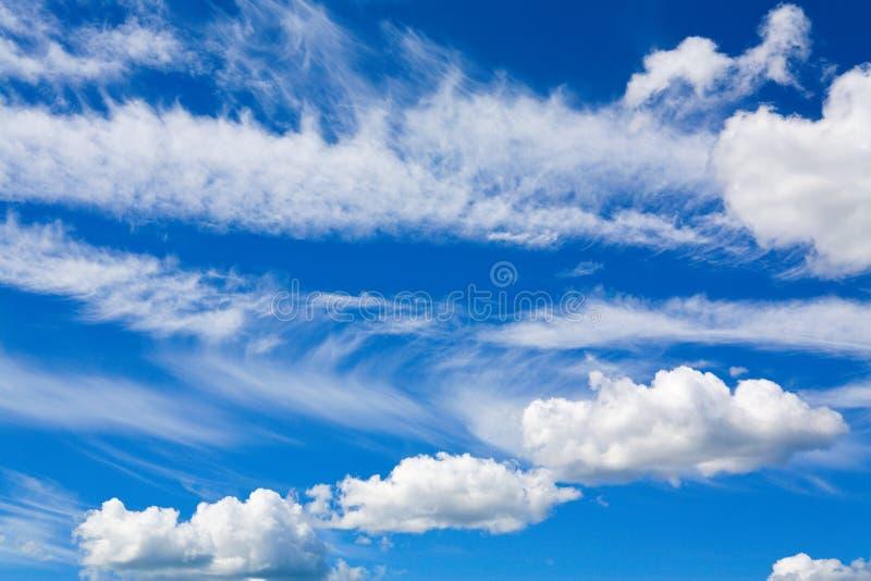 Cumulusen fördunklar i blåttsky arkivbild