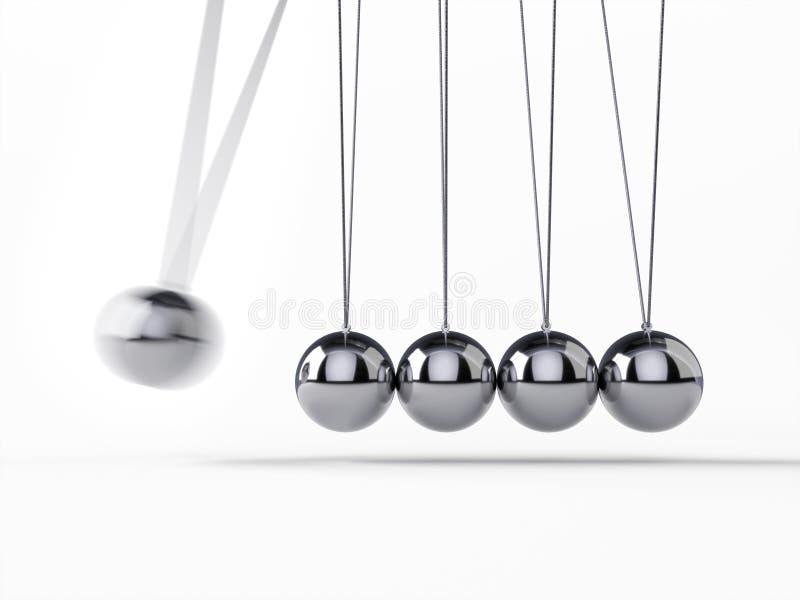 Cuna de equilibrio del ` s de Newton de las bolas stock de ilustración