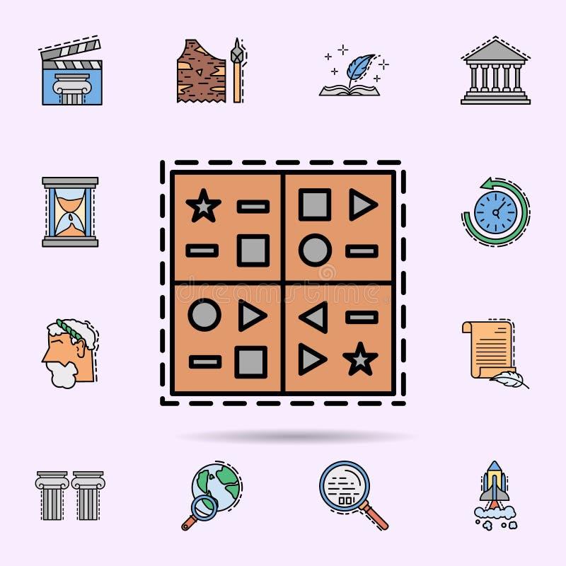 cuneiforme, lingua, icona di simboli Insieme universale di storia per progettazione del sito Web e sviluppo, sviluppo del app royalty illustrazione gratis
