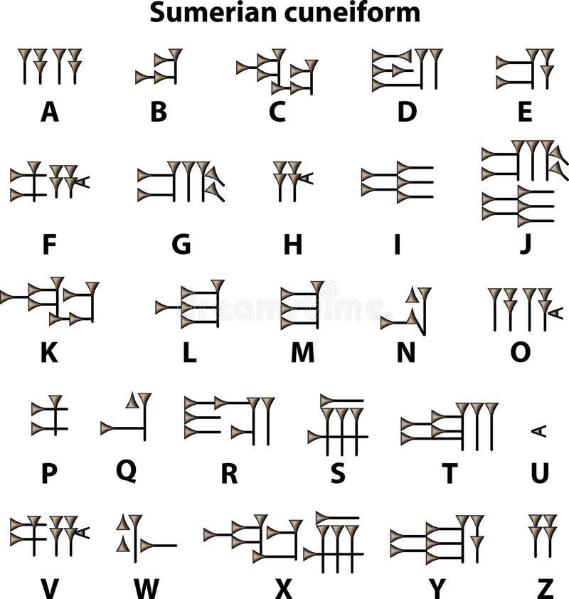 Cuneiforme Sumerian ilustração stock