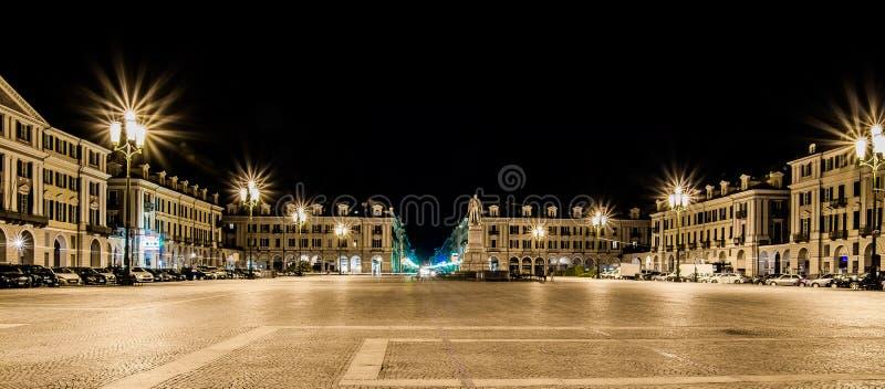Cuneo - аркада Galimberti стоковая фотография rf