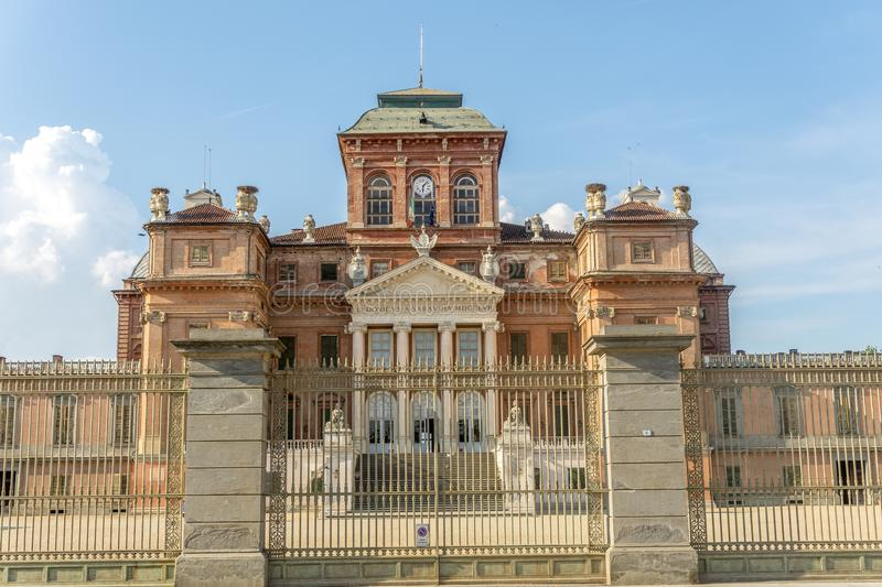 Castle of Racconigi in summer. On Cuneo, Racconigi, Italy, you can see the castle of Racconigi royalty free stock image