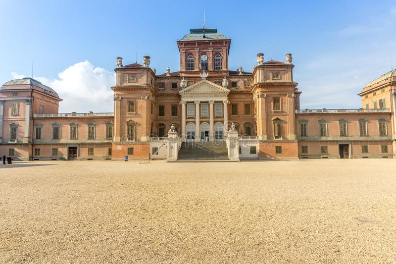 Castle of Racconigi in summer. On Cuneo, Racconigi, Italy, you can see the castle of Racconigi stock photography