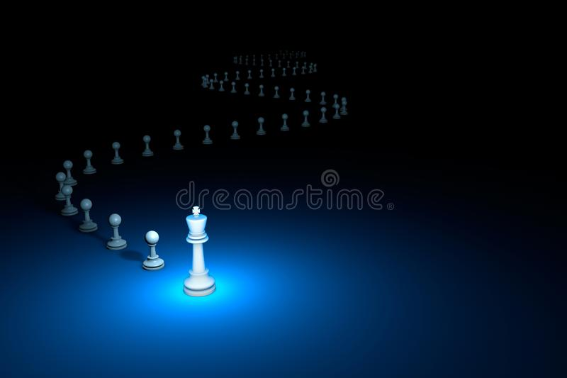 Flexible Policy chess metaphor. 3D render illustration. Free s. Cunning maneuver. Horizontal chess composition. Available in high-resolution and several sizes to vector illustration