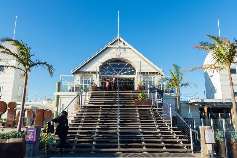 Cunningham Pier auf der Geelong-Ufergegend in Australien stockfotos