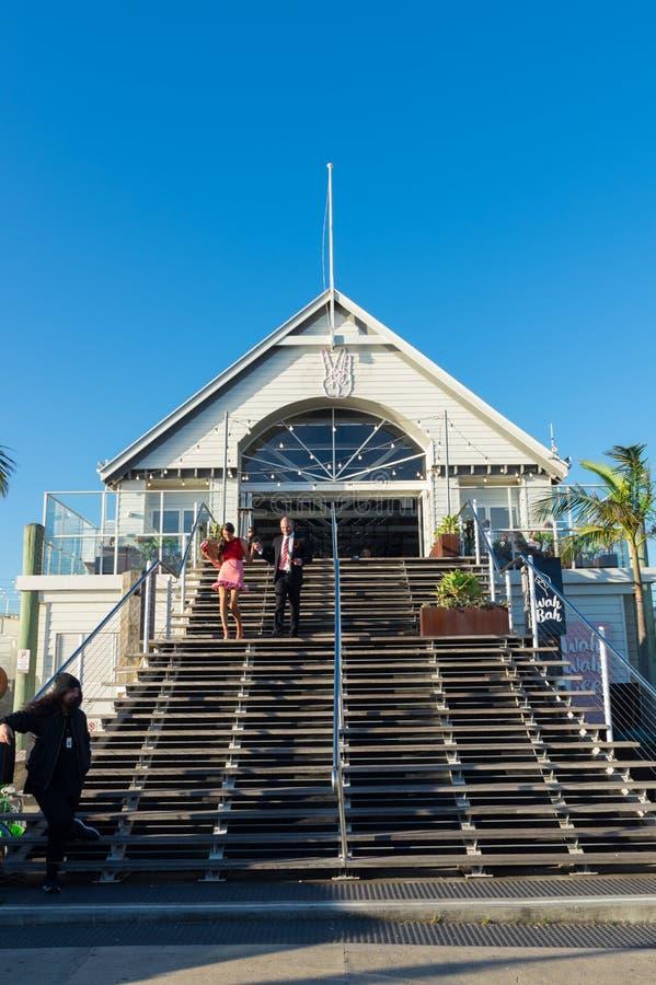 Cunningham Pier auf der Geelong-Ufergegend in Australien stockbild