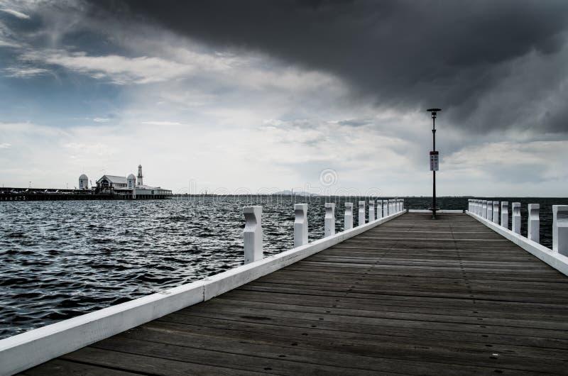 Cunningham Pier em Geelong imagens de stock