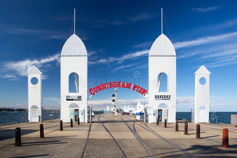 Cunningham Pier im Sommer stockbild