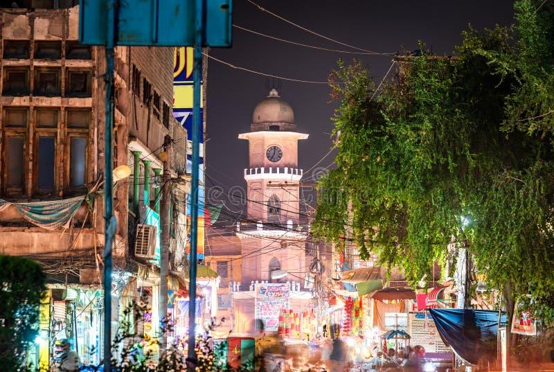 Cunningham zegarowy wierza ghanta ghar Kpk Pakistan obrazy stock