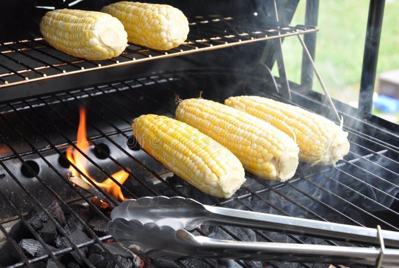 Cuocere i semi alla griglia fotografia stock