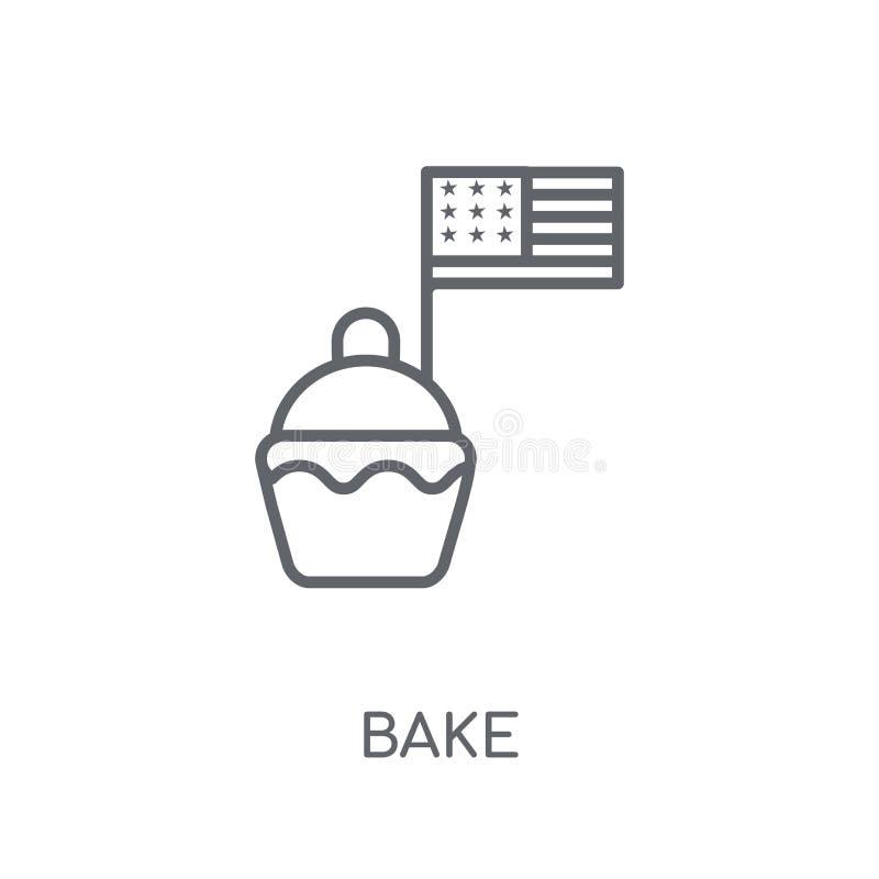 cuocia l'icona lineare Il profilo moderno cuoce il concetto di logo sulla parte posteriore bianca royalty illustrazione gratis