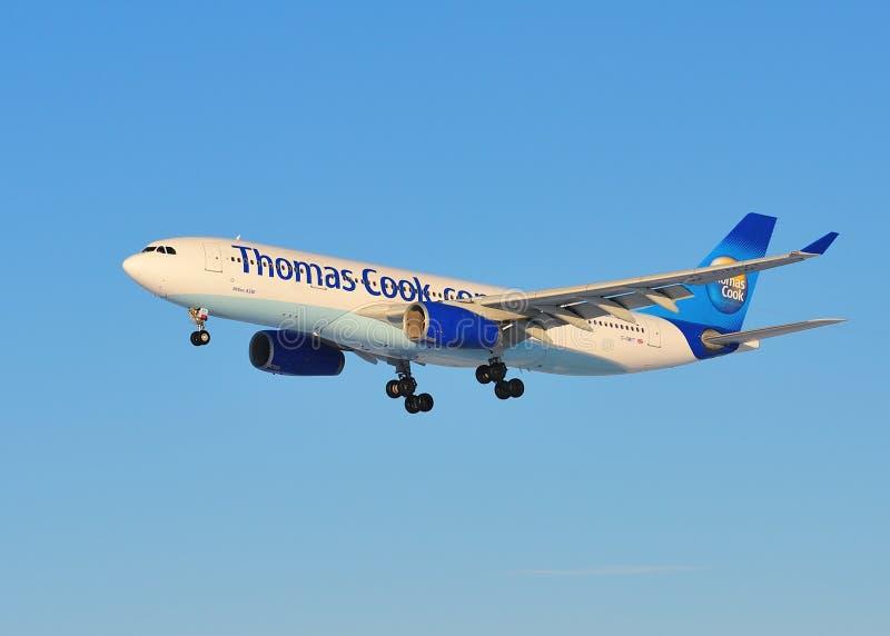Cuoco Airbus A330 del Thomas immagine stock libera da diritti