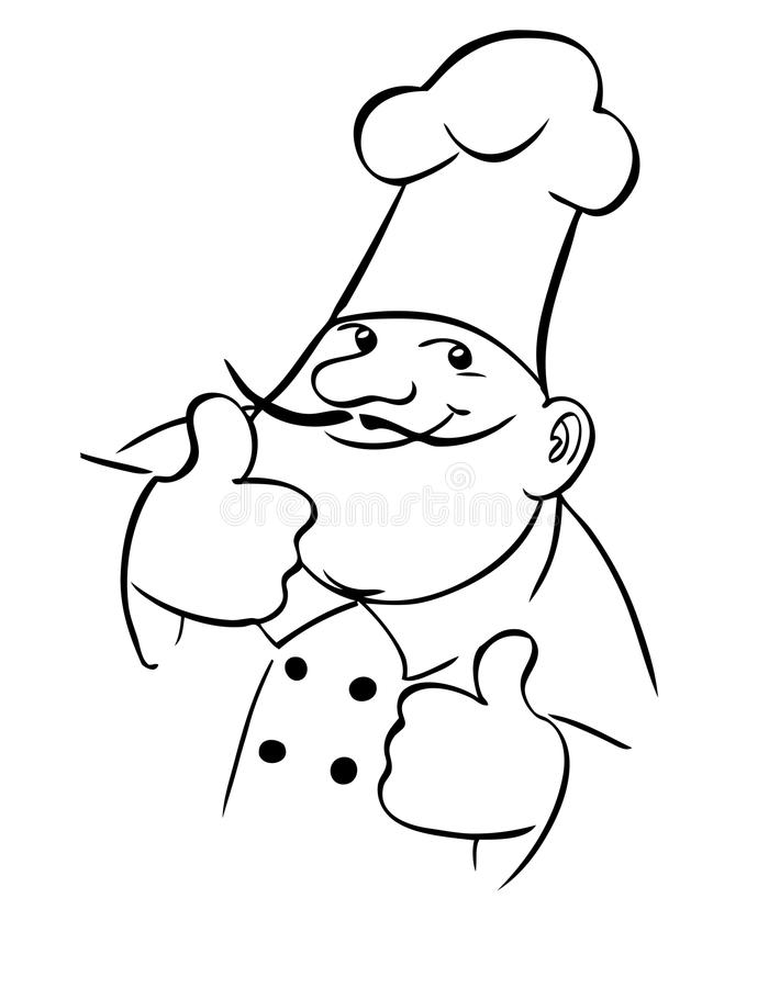 Cuoco del cuoco unico royalty illustrazione gratis