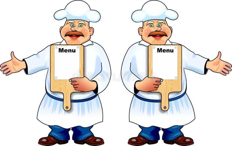 Cuoco dell'uomo illustrazione di stock