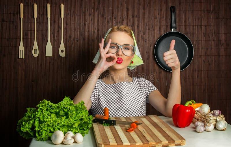 Cuoco della donna fotografia stock