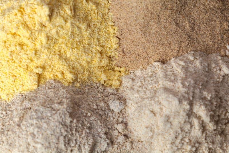 Cuoco differente della farina fotografia stock libera da diritti