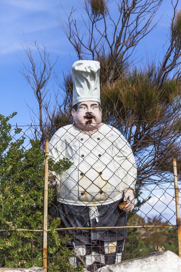 Cuoco In Garden del manichino immagine stock libera da diritti