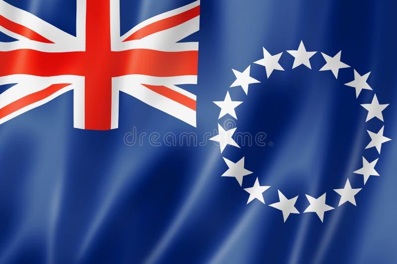 Cuoco Islands Flag illustrazione vettoriale