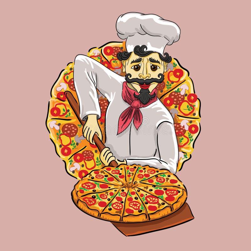 Cuoco italiano illustrazione vettoriale