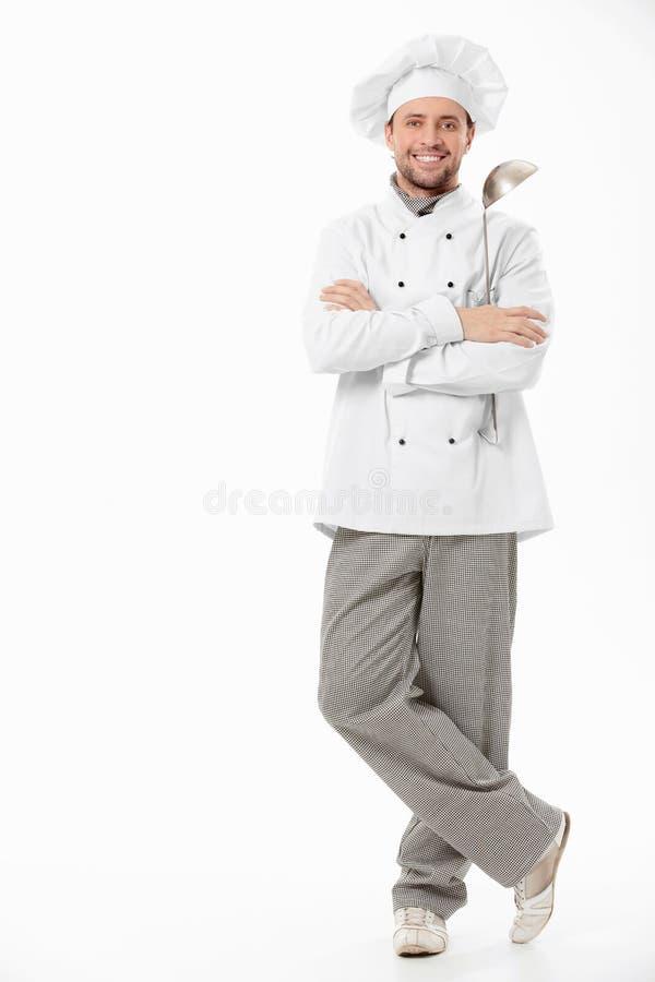 Cuoco sorridente immagine stock