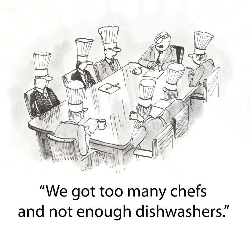 Cuoco unico royalty illustrazione gratis