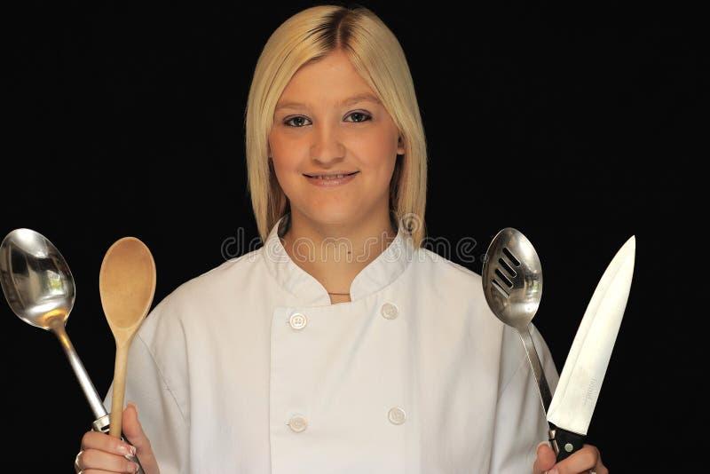 Cuoco unico adolescente fotografie stock