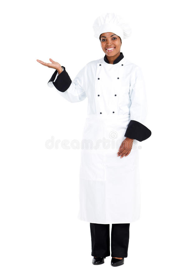 Cuoco unico africano fotografia stock
