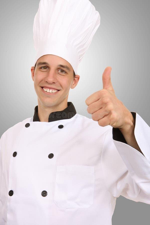 Cuoco unico bello fotografie stock