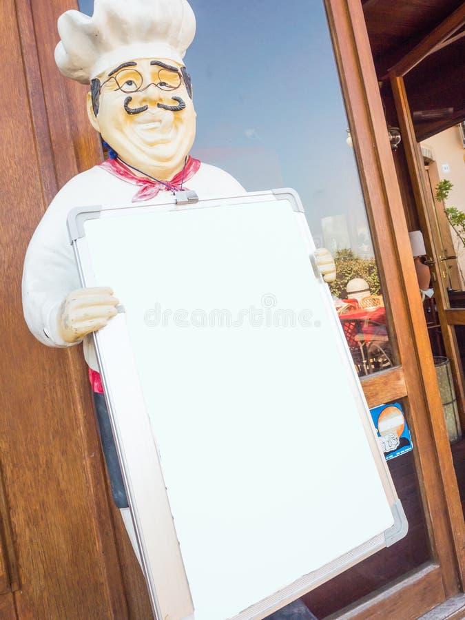 Cuoco unico Board del ristorante immagini stock libere da diritti