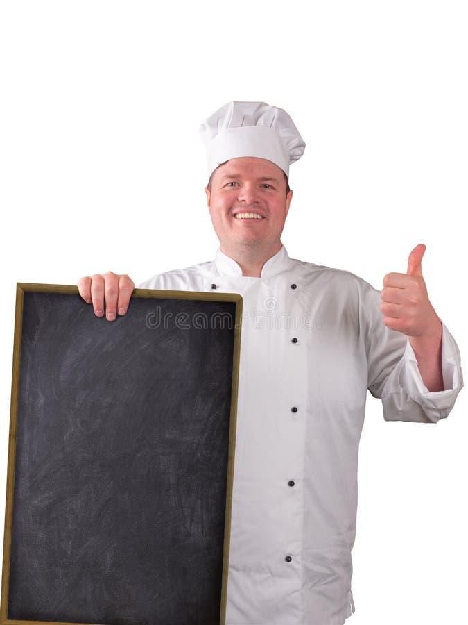 Cuoco unico con il bordo davanti lui immagine stock