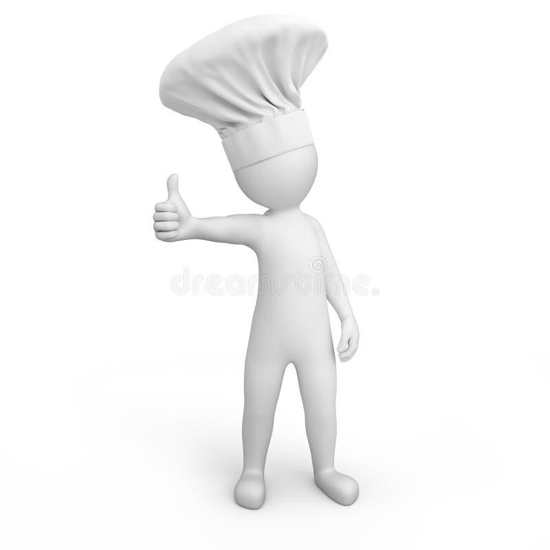 Cuoco unico con il pollice su illustrazione vettoriale