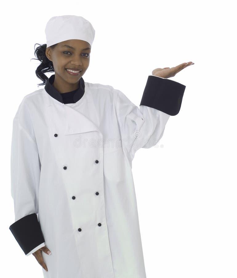 Cuoco unico con la mano aperta immagine stock