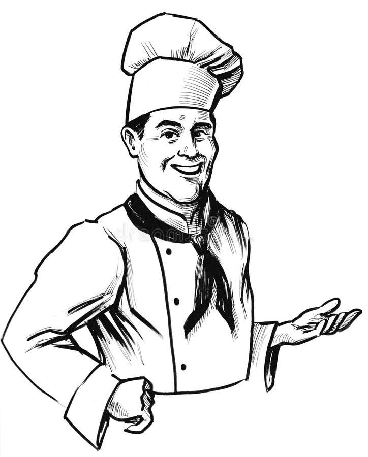 Cuoco unico d'invito illustrazione vettoriale