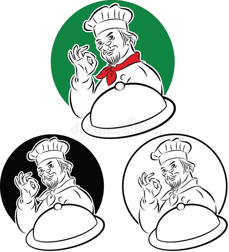 Cuoco unico del cuoco illustrazione vettoriale
