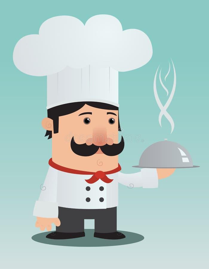 Cuoco unico del fumetto illustrazione di stock